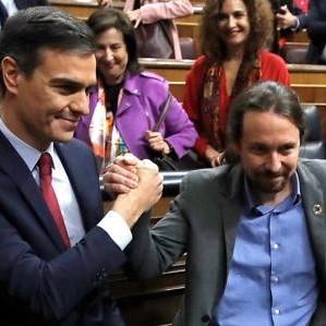 Diario Frontera, Frontera Digital,  PEDRO SÁNCHEZ, ESPAÑA, Internacionales, ,El Congreso dice «sí» a la coalición de  Sánchez e Iglesias dependiente de Junqueras