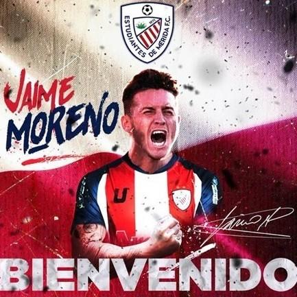 Diario Frontera, Frontera Digital,  ESTUDIANTES DE MÉRIDA FC, Deportes, ,Llega al rojiblanco el atacante Jaime Moreno Ciorciari