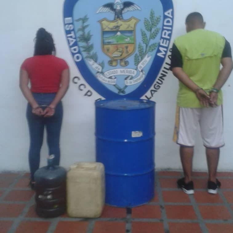 Diario Frontera, Frontera Digital,  CONTRABANDO LAGUNILLAS, Sucesos, ,Dos ciudadanos aprehendidos con  115 litros de combustible y por venta ilícita