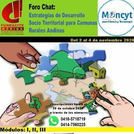 """Frontera Digital,  FUNDACITE MÉRIDA, Tecnología,  Fundacite - Mérida dictará Foro virtual """"Estrategias de Desarrollo  Socio Territorial para Comunas Rurales Andinas"""""""