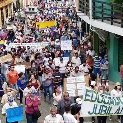 Diario Frontera, Frontera Digital,  PROTESTA DE DOCENTES, TOVAR, Mocoties, ,Docentes protestaron en Tovar