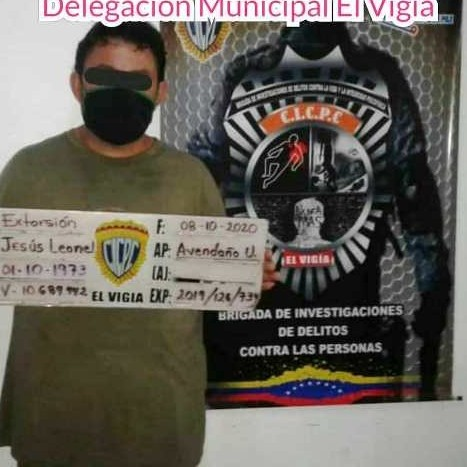 Diario Frontera, Frontera Digital,  CICPC, Sucesos, ,CICPC EL VIGÍA APREHENDIÓ A VIGÍENSE POR ESTAR  SOLICITADO EN ARGENTINA POR  EXTORSIÓN