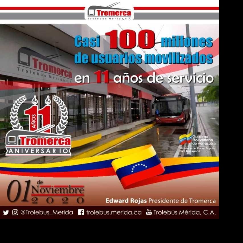 Diario Frontera, Frontera Digital,  TROMERCA, Regionales, ,Trolebús Mérida totalizó casi 96 millones de usuarios  movilizados en su décimo primer aniversario