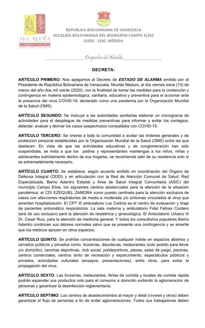 CAMPO ELÍAS, Regionales,
