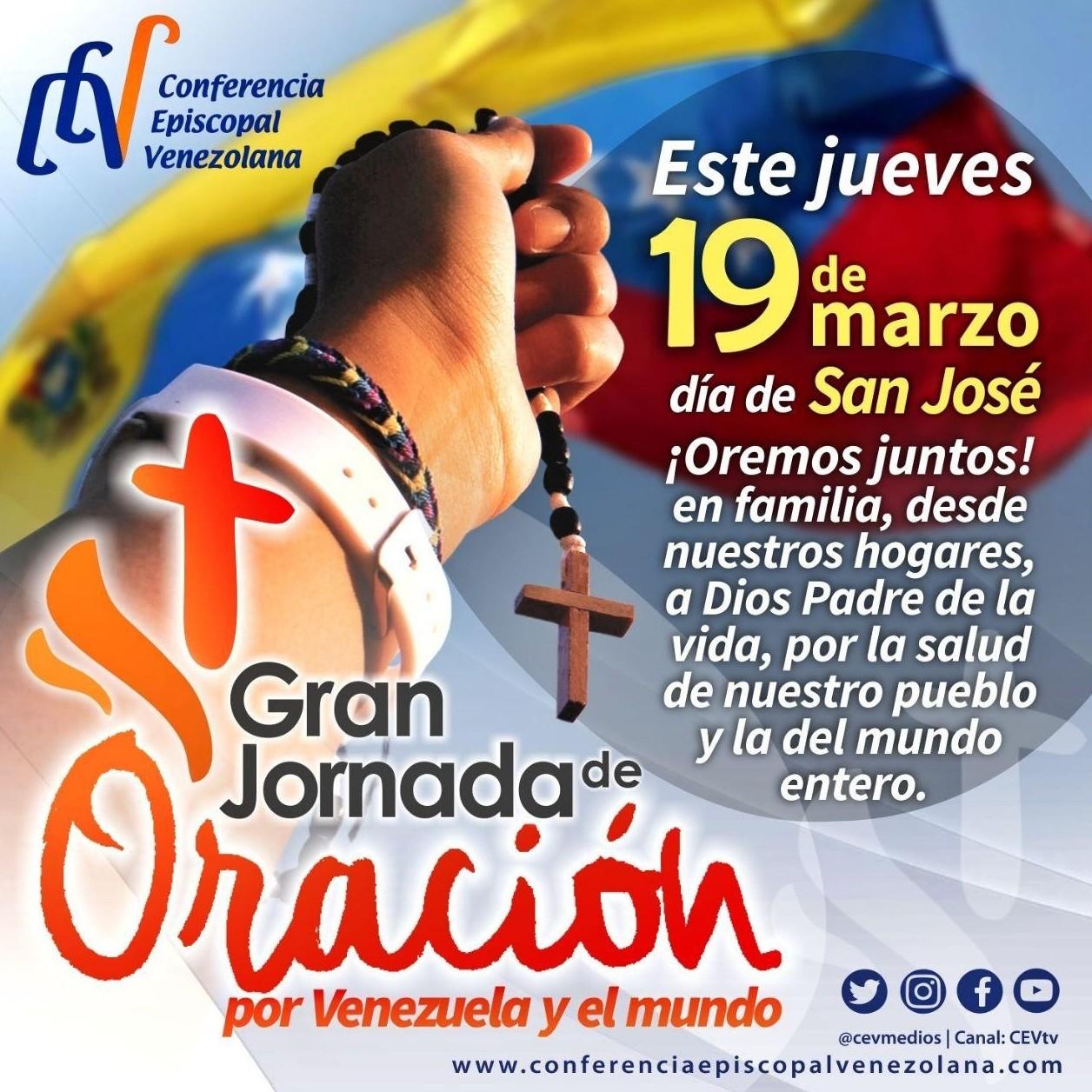 Diario Frontera, Frontera Digital,  JORNADA DE ORACIÓN, CEV, Nacionales, ,Gran Jornada de Oración por Venezuela y el mundo