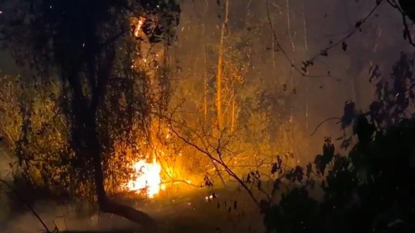 Diario Frontera, Frontera Digital,  LAGUINA DE URAO, Regionales, ,Incendio compromete biodiversidad de la Laguna de Urao en Mérida