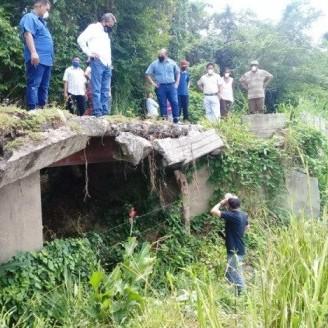 Diario Frontera, Frontera Digital,  CAÑITOS, Panamericana, ,Gobernador evaluó situación  del puente que conduce hacia el sector Los Cañitos