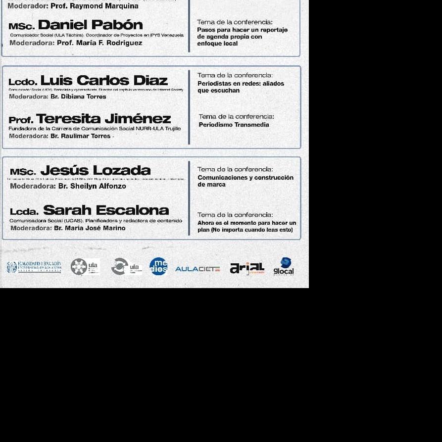Diario Frontera, Frontera Digital,  COMUNICACIÓN SOCIAL ULA MÉRIDA, Regionales, ,Carrera de Comunicación Social de la ULA Mérida  celebra su 4to. aniversario