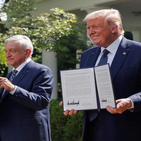 Diario Frontera, Frontera Digital,  EE.UU. Y MÉXICO, Internacionales, ,Trump y AMLO firmaron acuerdo comercial sin tocar el tema migratorio