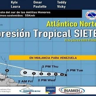 Diario Frontera, Frontera Digital,  CICLÓN TROPICAL, Nacionales, ,Inameh descarta peligro inminente sobre Venezuela  de ciclón tropical presente en las Antillas Menores