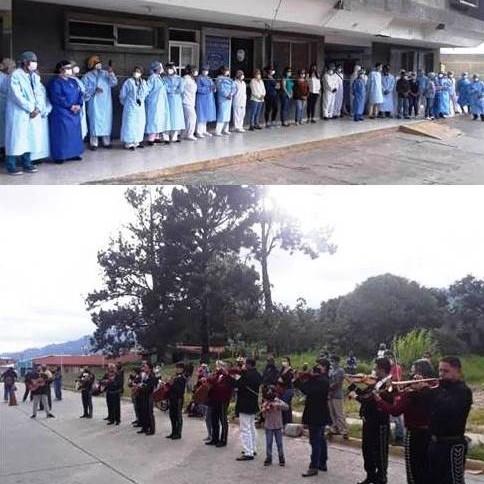 Diario Frontera, Frontera Digital,  HOMENAJE, IAHULA, Regionales, ,Hermandad Guadalupana rindó homenaje  al personal de salud del Iahula