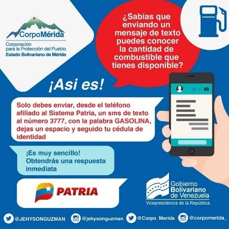 Diario Frontera, Frontera Digital,  COMBUSTIBLE, Regionales, ,Merideños podrán consultar disponibilidad de combustible con antelación