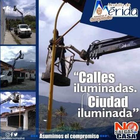 """Diario Frontera, Frontera Digital,  ALCALDÍA DE MÉRIDA, Regionales, ,""""Seguimos renovando la luminarias en Mérida"""""""
