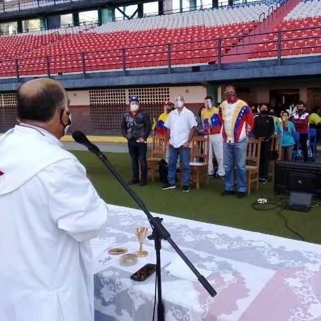 Diario Frontera, Frontera Digital,  DPIA DEL DEPORTE, MÉRIDA, Deportes, ,La Misa del Deporte se celebró en el Estadio Olímpico Metropolitano de Mérida