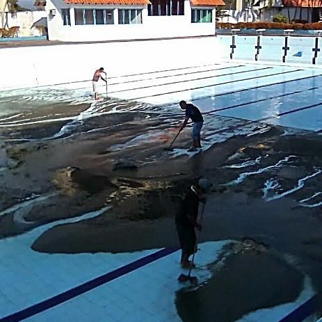 """Diario Frontera, Frontera Digital,  Complejo """"América Bendito"""" de El Vigía, Deportes, ,Comenzaron a llenar la piscina Olímpica"""