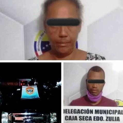 """Diario Frontera, Frontera Digital,  DETENIDOS, CAJA SECA, CICPC, Sucesos, ,CICPC CAJA SECA CAPTURÓ A """"LA NANA""""  Y A SU HIJO """"EL CACHACO"""" POR ROBO"""