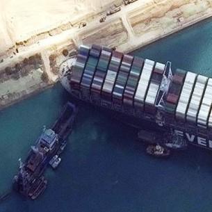 Diario Frontera, Frontera Digital,  CANAL DE SUEZ, Internacionales, ,Nueve remolcadoras tratan de desencallar  el 'Ever Given' en el Canal de Suez