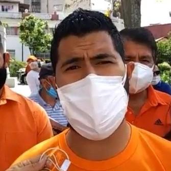 """Diario Frontera, Frontera Digital,  VOLUNTAD POPULAR, Politica, ,Joan Manuel Gómez: """"Seguiremos en las calles mientras  no se avance en un plan de vacunación incluyente y mejoras laborales"""""""