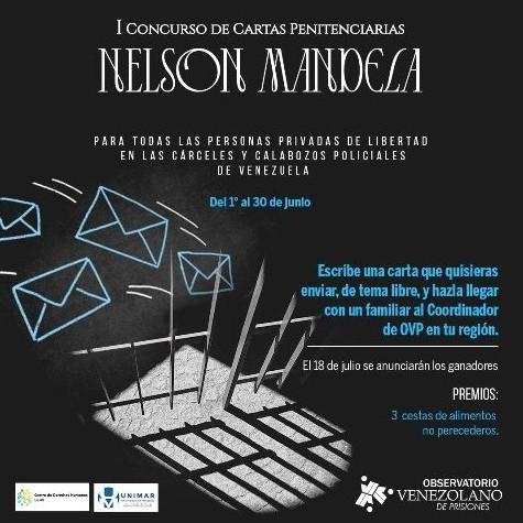 Diario Frontera, Frontera Digital,  OBSERVATORIO VENEZOLANO DE PRISIONES, Nacionales, ,EL OBSERVATORIO VENEZOLANO DE PRISIONES ABRE CONCURSO CARTAS PENITENCIARIAS NELSON MANDELA