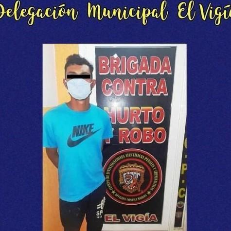 Diario Frontera, Frontera Digital,  CICPC EL VIGÍA, Sucesos, ,CICPC EL VIGÍA APREHENDIÓ A JOVEN POR ROBO EN EL MUNICIPIO ALBERTO ADRIANI