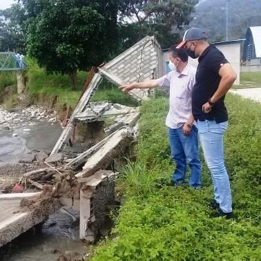 """Diario Frontera, Frontera Digital,  SANTA CRUZ DE MORA, Mocoties, ,Inmivi evalúa recuperación  del muro perimetral en estadio """"Balmore Méndez"""""""