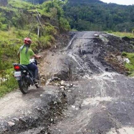 Diario Frontera, Frontera Digital,  LOCAL 004, VÍA LA AZULITA, Regionales, ,Incomunicados tras colapso de la vialidad de Jají hacía a la Azulita en #Mérida