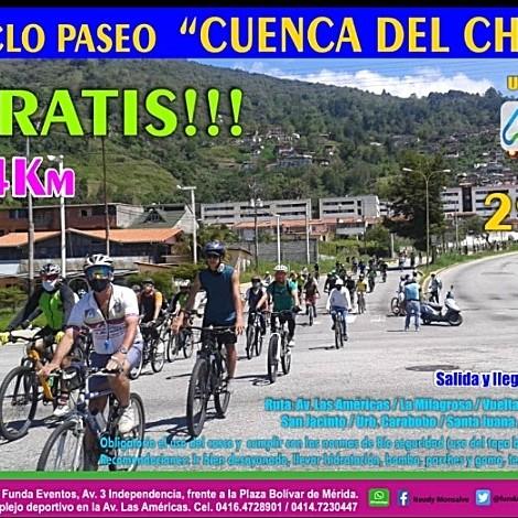 """Diario Frontera, Frontera Digital,  CICLOPASEO, CUENCA DEL CHAMA, Deportes, ,El Ciclopaseo """"Cuenca del Chama"""" será el domingo 29 a las 8:00 am"""