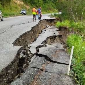 Diario Frontera, Frontera Digital,  ENLACE VIAL RAFAEL CALDERA, LOCAL 008, Panamericana, ,Alerta en la autopista Rafael Caldera ante desprendimiento de talud y daños en la calzada