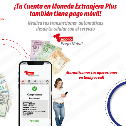Diario Frontera, Frontera Digital,  BANCO DEL TESORO, Nacionales, ,Banco del Tesoro activa servicio de Pago Móvil  para cuentas en moneda extranjera