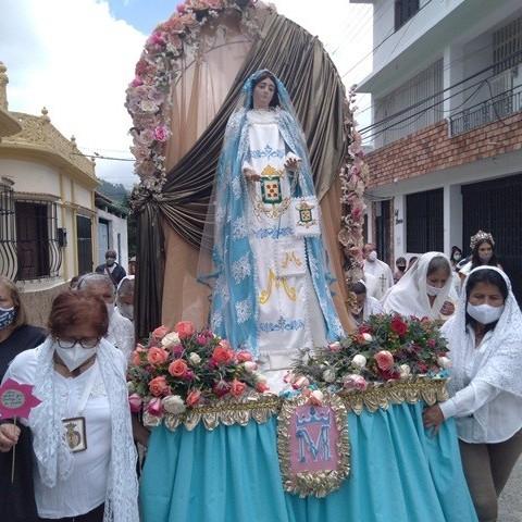 Frontera Digital,  ZAEA, VIRGEN D ELAS MERCEDES, Mocoties,  Zedeños celebraron con efusión religiosa  la festividad de la Virgen de Las Mercedes
