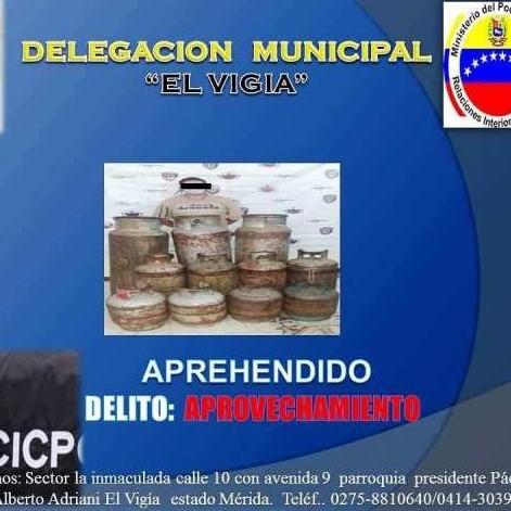 Diario Frontera, Frontera Digital,  CICPC, Sucesos, ,CICPC APREHENDIÓ A CIUDADANO AL INCAUTARLE  ONCE CILINDROS PARA GAS DOMESTICO