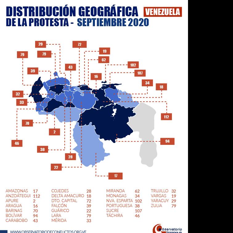 Diario Frontera, Frontera Digital,  Observatorio Venezolano de Conflictividad, Nacionales, ,Observatorio Venezolano de Conflictividad  registró 1.193 protestas en septiembre