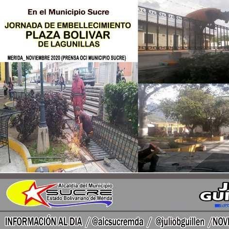 Diario Frontera, Frontera Digital,  LAGUNILLAS, MÉRIDA, Regionales, ,JORNADA DE EMBELLECIMIENTO PLAZA BOLIVAR DE LAGUNILLAS