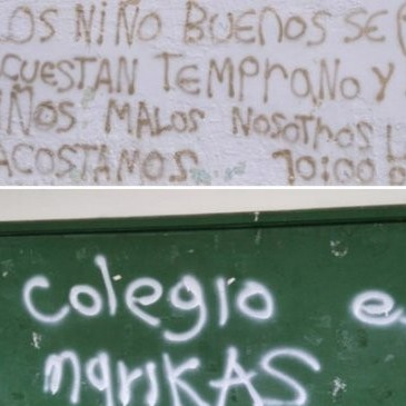 Diario Frontera, Frontera Digital,  PAMPLONA, NORTE DE SANTANDER, Internacionales, ,Dejan mensajes alusivos al Eln  en paredes de colegio de Pamplona