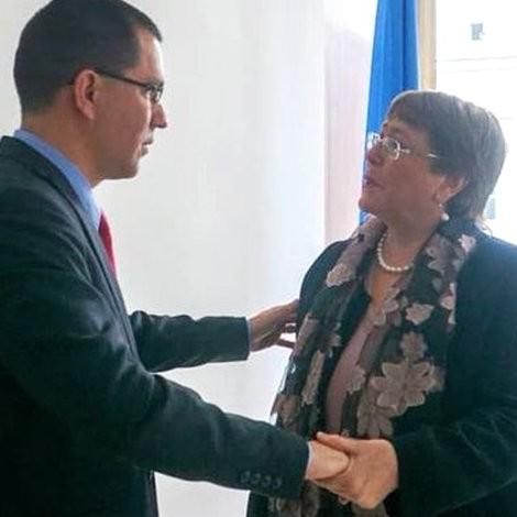 Diario Frontera, Frontera Digital,  JORGE ARREAZA, MICHEL BACHELET, Internacionales, ,Venezuela ratifica voluntad de cooperar  con todos los mecanismos de Naciones Unidas