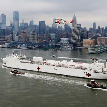 Diario Frontera, Frontera Digital,  USNS Comfort, NUEVA YORK, Internacionales, ,Un barco hospital con mil camas y 12 quirófanos llega a Nueva York
