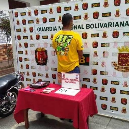 Diario Frontera, Frontera Digital,  Operación 'Escudo Bolivariano III 2020, Salud Segura', Sucesos, ,GNB capturó microtraficante de marihuana en Tovar