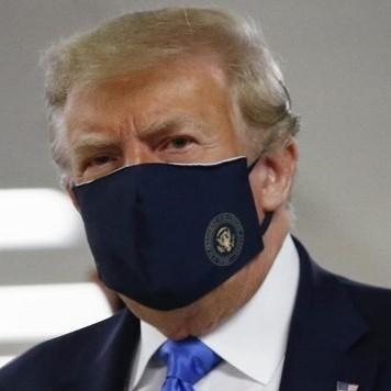 Diario Frontera, Frontera Digital,  D. TRUMP, Internacionales, ,Trump se muestra con tapabocas en público  por primera vez durante la pandemia