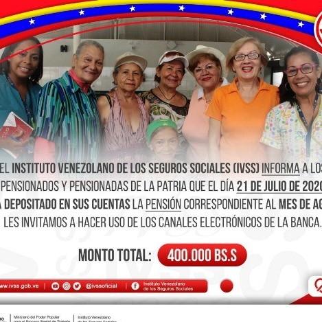 Diario Frontera, Frontera Digital,  IVSS, Nacionales, ,Pago de pensiones se efectuará el 21-J