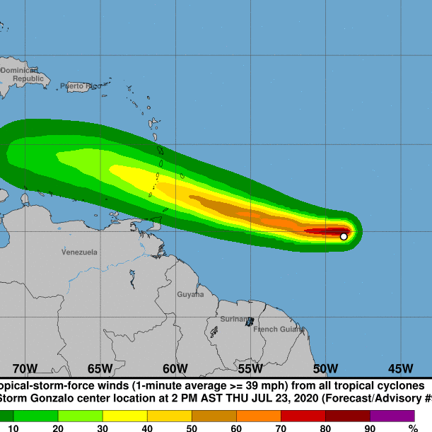 Diario Frontera, Frontera Digital,  GONZALO, HURACÁN, Internacionales, ,Tormenta tropical Gonzalo se convertirá en un huracán
