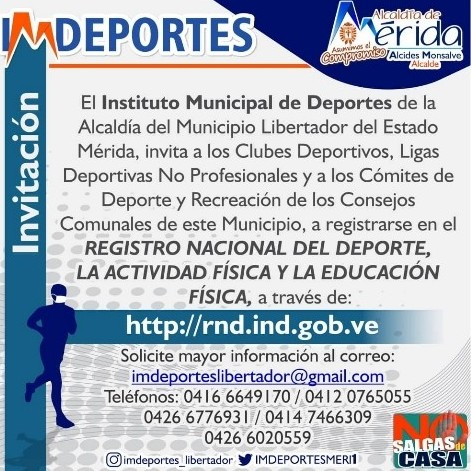 Diario Frontera, Frontera Digital,  Registro Nacional del Deporte, Deportes, ,Imdeportes invita a los clubes y ligas deportivas  a inscribirse en el Registro Nacional del Deporte