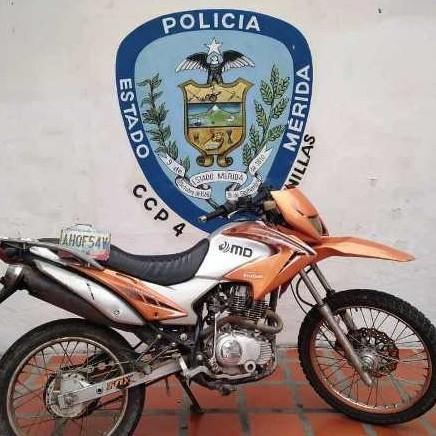Diario Frontera, Frontera Digital,  POLICÍA DE LAGUNILLAS, Sucesos, ,POLICÍA RECUPERÓ MOTO EN ESTADO  DE ABANDONO EN LA VARIANTE