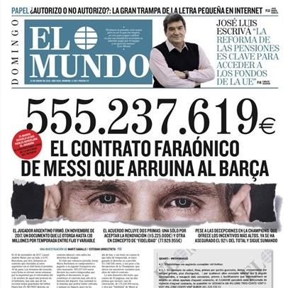 Diario Frontera, Frontera Digital,  CONTRATO MESSI, Deportes, ,FC Barcelona Messi, el mayor contrato de la historia del deporte: 555.237.619 euros