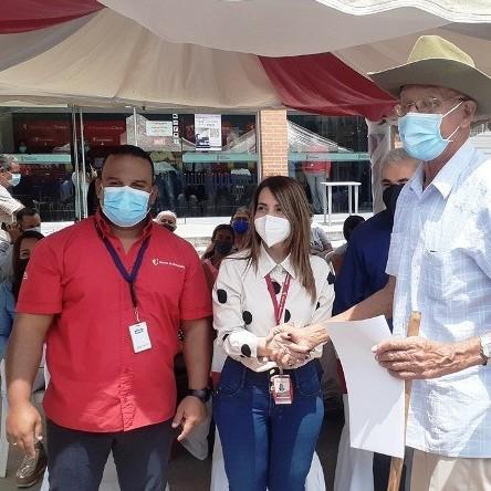 Diario Frontera, Frontera Digital,  BANCO DE VENEZUELA, Mocoties, ,154 comerciantes afectados por las lluvias en Tovar  recibieron  créditos del Banco de Venezuela