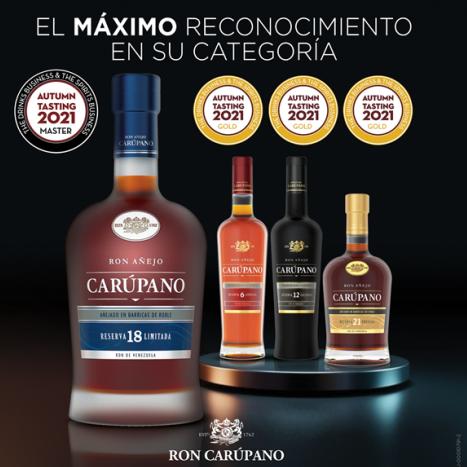 Diario Frontera, Frontera Digital,  RON CARÚPANO, Entretenimiento, ,Ron Carúpano alcanza el máximo reconocimiento  en su categoría durante la competencia de DB & SB Autumn Blind Tasting 2021