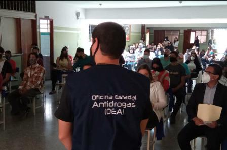 Diario Frontera, Frontera Digital,  OEA, GOBIERNO DE MÉRIDA, Páramo, ,Oficina Estadal Antidrogas brindó a los jóvenes del páramo herramientas  para la toma de decisiones