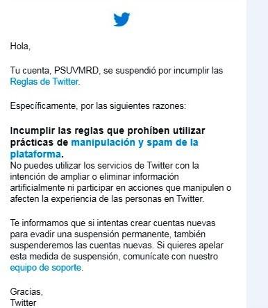 Diario Frontera, Frontera Digital,  PSUV - MÉRIDA, CUENTA TWITTER, Politica, ,Psuv Mérida rechaza y repudia la dictadura mediática de Twitter