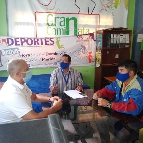 Diario Frontera, Frontera Digital,  IMDEPORTES LIBERTADOR, ASOFÚTBOL MÉRIDA, Deportes, ,Presidente de Asofútbol Mérida felicitó al presidente de Imdeportes Libertador