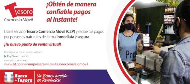 Diario Frontera, Frontera Digital,  SERVICIO C2P, Nacionales, ,Banco del Tesoro dispone  del nuevo servicio interbancario C2P