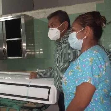 Diario Frontera, Frontera Digital,  GOBIERNO DE MÉRIDA, Panamericana, ,Gobernación dotó de aire acondicionado  sala de partos del hospital II Adán Muñoz Calleja